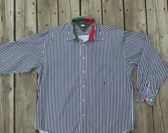 Vintage  Button Down Hilfiger Shirt Large