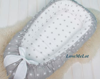Lovely double-sided Baby Nest for newborn, silent night babynest, sleep bed, cot, baby nest pattern, sleep nest, co sleeper