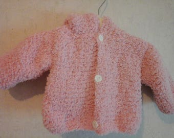 Long sleeves and hood 3 months light pink