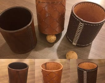 NEW** Leather Chop Cup