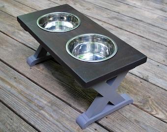 Med - Dog Bowl Stand - Raised Dog Feeder - Pet Feeding Station - Raised Pet Feeder - Dog Bowl Holder - Elevated Dog Bowl - Dog Feeder