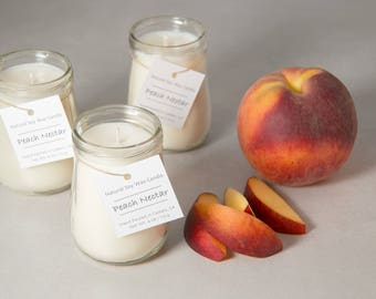 Peach Nectar 4oz Soy Wax Candles (set of 3)