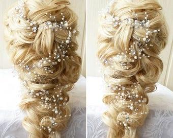 Wedding hair vine etsy love long hair vinebridal hair vinecrystals bridal wedding junglespirit Choice Image