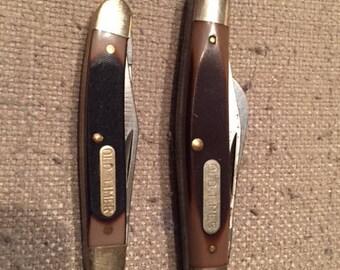 Vintage Schrade Old Timer 84OT with Bonus Old Timer Knife