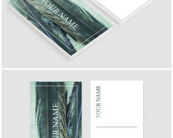 Business card template - Business card  design - Business cards - Custom business cards - Feather Blue business card template