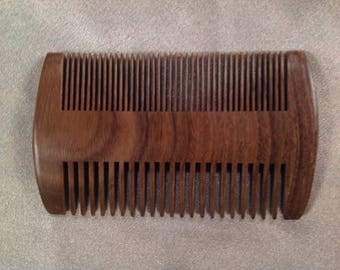 E0032- Wooden Beard Comb