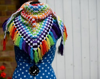 Crochet Rainbow Shawl