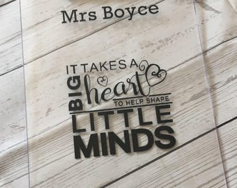 Personalised Teacher's A4 Clipboard - Help shape little minds