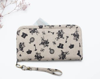 Wallet for Women - No.2 | Fairytale Wallet | Fabric Wallet Handmade | Gift for Her | Long Wallet | Zipper Wallet | Cell Phone Wallet .
