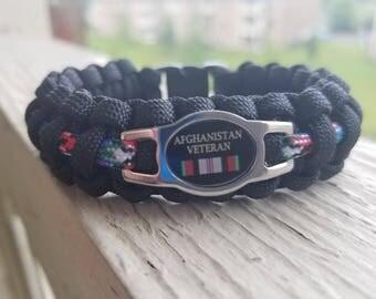 Afghanistan Veteran Paracord bracelet