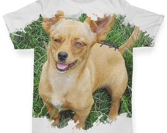 Chihuahua Baby Toddler Novelty ALL-OVER PRINT Baby T-shirt