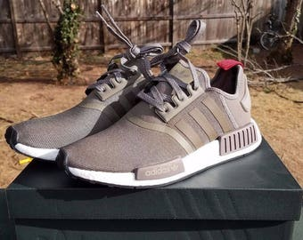 adidas originals NMD r1 tech earth limited men's size 8 brand new.