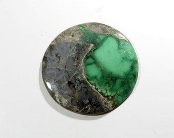 105Cts Variscite Cabochon Round Loose Gemstones Calibrated Size Gems Top AAA Quality Natural Variscite Gemstone For Jewelry Making 50X50X5mm