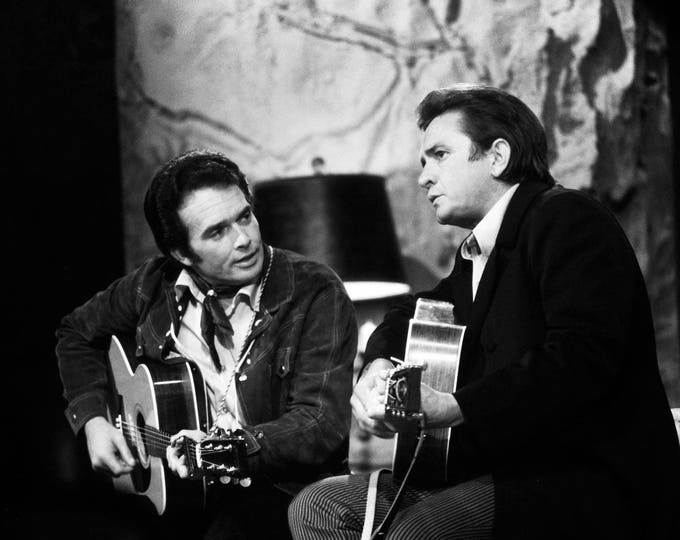 "Merle Haggard on ""The Johnny Cash Show"" in 1969 - 5X7, 8X10 or 11X14 Publicity Photo (AZ038)"
