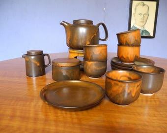 Vintage Coffee service by Heister Wood 1970s