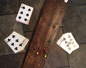 Oak Cribbage Board