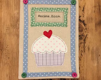Recipes book large! Fabric cover can be personalised for free!