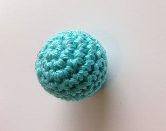 Bead crochet in light turquoise cotton