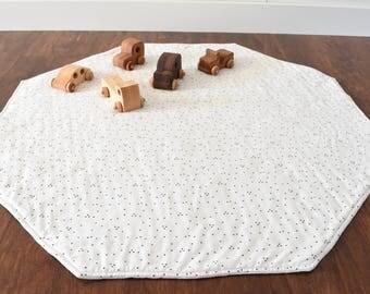 Modern Baby Play Mat - Padded Play Mat - Octagon Nursery Rug - Tummy Time Flatlay Play Rug - Gender Neutral
