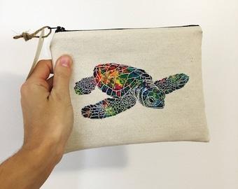 Sea Turtle Makeup Bag / Cosmetic Bag / Toiletry Bag