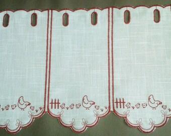 Curtain ready to install... breeze houndstooth trim frieze