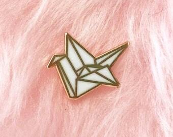 TinyOrigami hard enamel pin