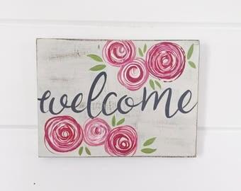 Welcome Sign // Housewarming Gift // Front Door Decor // Entry Way Decor // Home Sweet Home Sign // Home Sweet Home