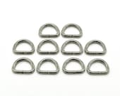 Tiny D Rings - Small D Ring - Silver D Rings - Lanyard Ring - Bag Making Supplies - D Ring - Purse Sewing - Wristlet Hardware - Metal D Ring