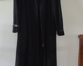 Code WINTEREND: 20% Long coat winter Pure Virgin wool / / Hilary Radley 90s 12US