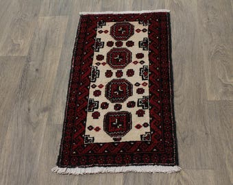 Tribal Small S Antique Handmade Balouch Persian Area Rug Oriental Carpet 1ʹ6X3