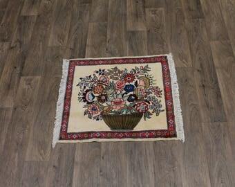 Fine Small Entrance Handmade Turkoman Persian Area Rug Oriental Carpet 2'4X2'8