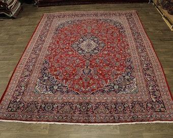 Beautiful S Antique Handmade Plush Mashad Persian Rug Oriental Area Carpet 10X13