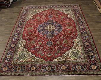 Breathtaking Hand Knotted Unique Tabriz Persian Rug Oriental Area Carpet 10X13