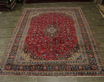 Stunning Traditional Vintage Plush Mashad Persian Rug Oriental Area Carpet 10X13
