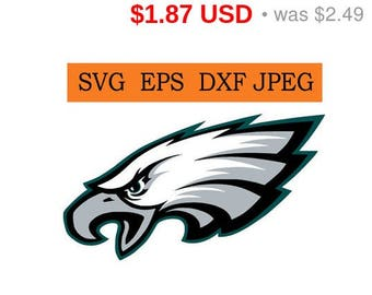 Sale 25%  -  Philadelphia Eagles logo in SVG / Eps / Dxf / Jpg files INSTANT DOWNLOAD!