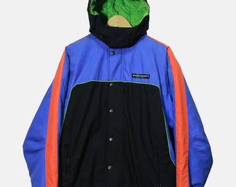 Vintage Polo Sport Ralph Lauren Neon Ski/Outdoor Jacket size 170/L/XL