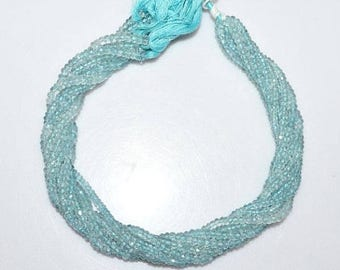 50% OFF 1 Strand Aquamarine Faceted Rondelle Beads 13 Inch Strand , Aquamarine Rondelle Beads , Sold By Strand  , 3.25-5.50 mm - MC453B