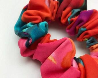 Cabbage hair accessory, orange multi hair, scrunchies, scrunchie