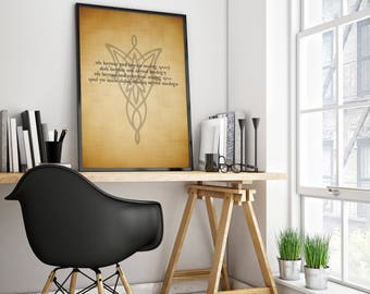 Elvish Print - Lord of the Rings / Hobbit / Sindarian Personalized Print - perfect present for Christmas and Birthdays