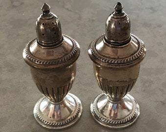 Sterling Silver Weighted Salt and Pepper Shakers Vintage