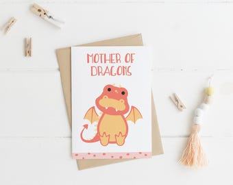 Mother of Dragons Card