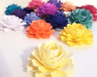 """50 Loose Paper Flowers 