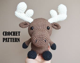 Crochet Amigurumi Pattern: Milton the Moose, Stuffed Toy, Plush, Stuffed Animal