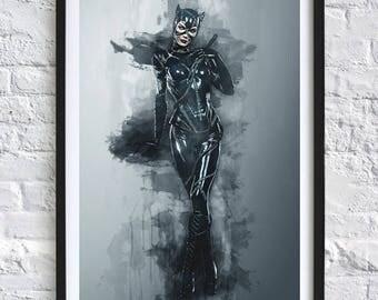 Batman Returns - Catwoman 'Watercolor' A4 Print