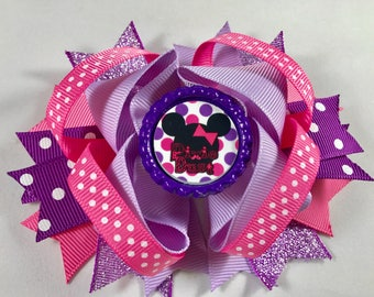 Minnie bow Minnie Mouse birthday bow Minnie mouse headband minnie mouse birthday minnie mouse party favors