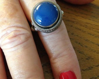 Bohemian Silver Lapis Ring