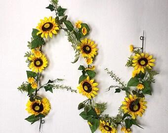 Spring Sunflower Garland, 6'