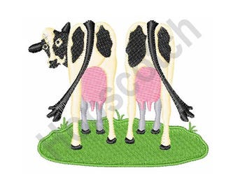 Dairy Cows Milk - Machine Embroidery Design