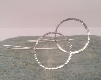 Minimalist silver hoops