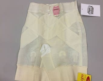 50s 60s Penneys 4 Garter Girdle New with Tags | Vintage Large Average